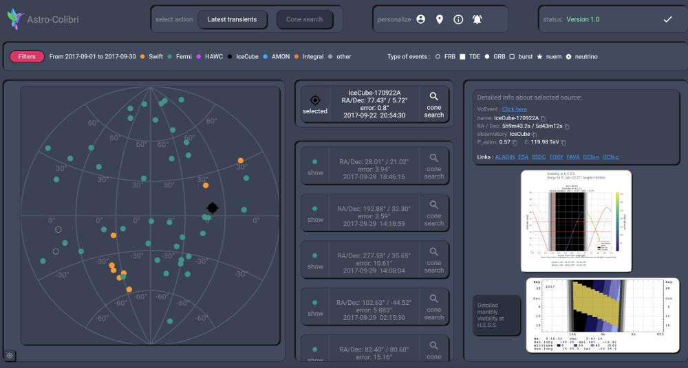 Astro-COLIBRI : une nouvelle plateforme pour l'astrophysique multi-messagers en temps réel.