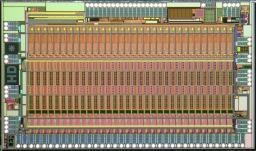 l'ASIC développé par l'équipe micro-électronique du SEDI,  qui constitue l'électronique de la mini-caméra gamma Caliste – Auteur : Isabelle Le Mer