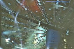 Atlas: roue de detecteurs de muons vers l'avant de l'experience.