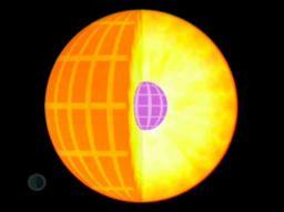 Observation du  coeur solaire par SoHO