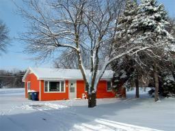 La maison de Saclay au Village de Fermilab sous la neige