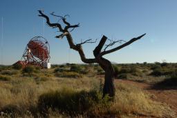 Vue en Namibie de Hess,  télescope consacré à l'exploration du ciel gamma à très haute énergie
