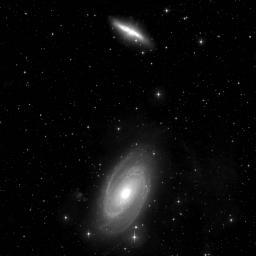 Vues prises avec Megacam: galaxies proches: Messier 81 & Messier 82