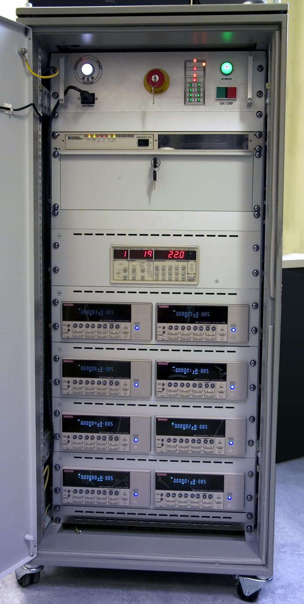 Baie d'instrumentation pour la mesure de très faibles courants (pA)
