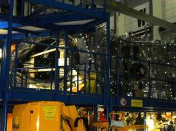 Commémoration à Greisfwald (Allemagne) de la réussite du projet W7X: Vue d'une partie du stellarator W7X