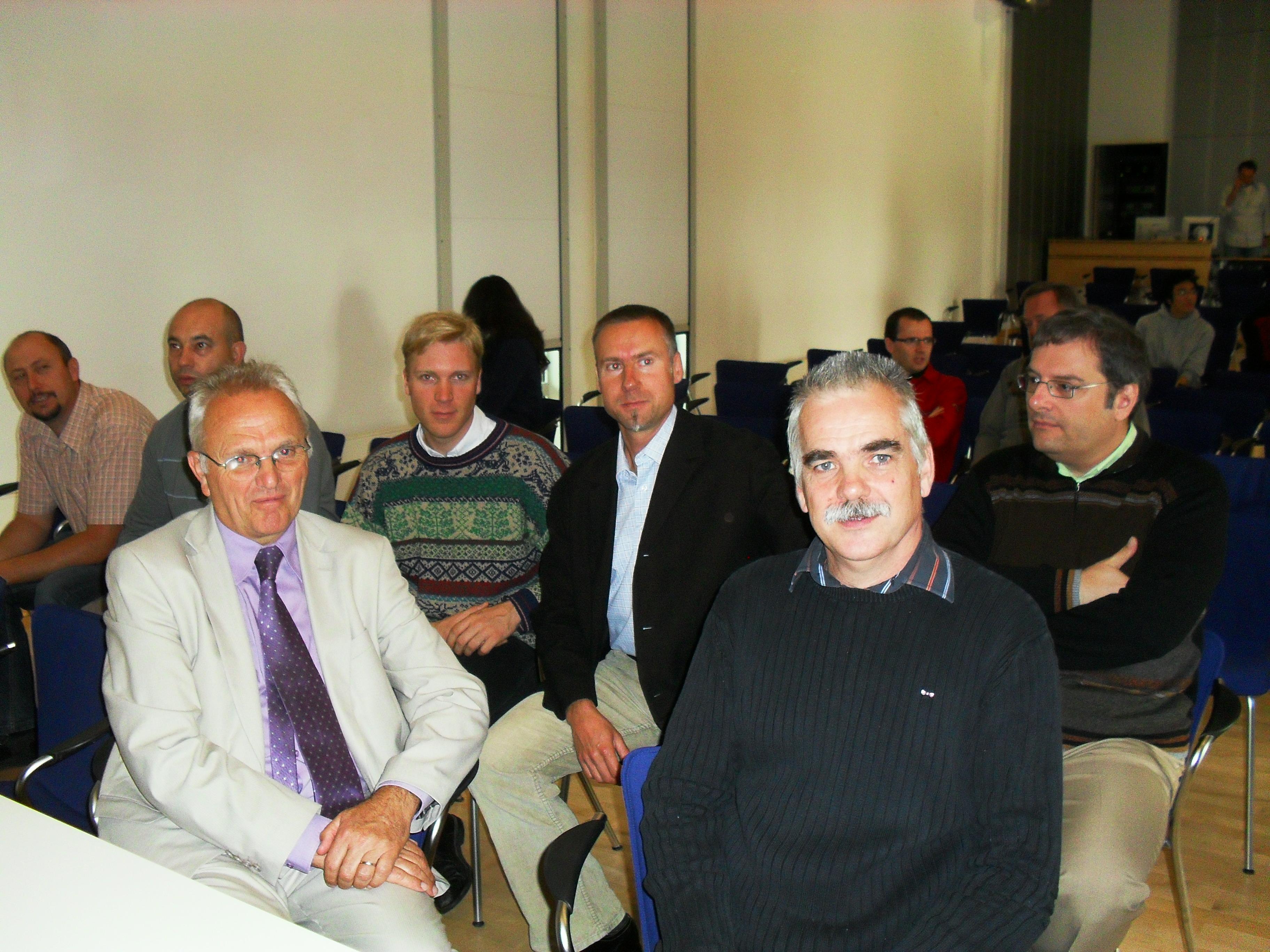 Spectateurs des exposés à Greifswald