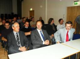 Spectateurs des exposés à l'IPP-Greifswald