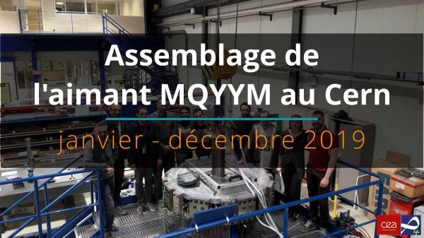 Assemblage de l'aimant MQYYM au Cern en 2019