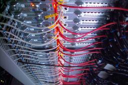 Les ordinateurs de la Grif conncetés en réseau