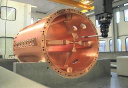 Photo du prototype RFQ de SPIRAL2