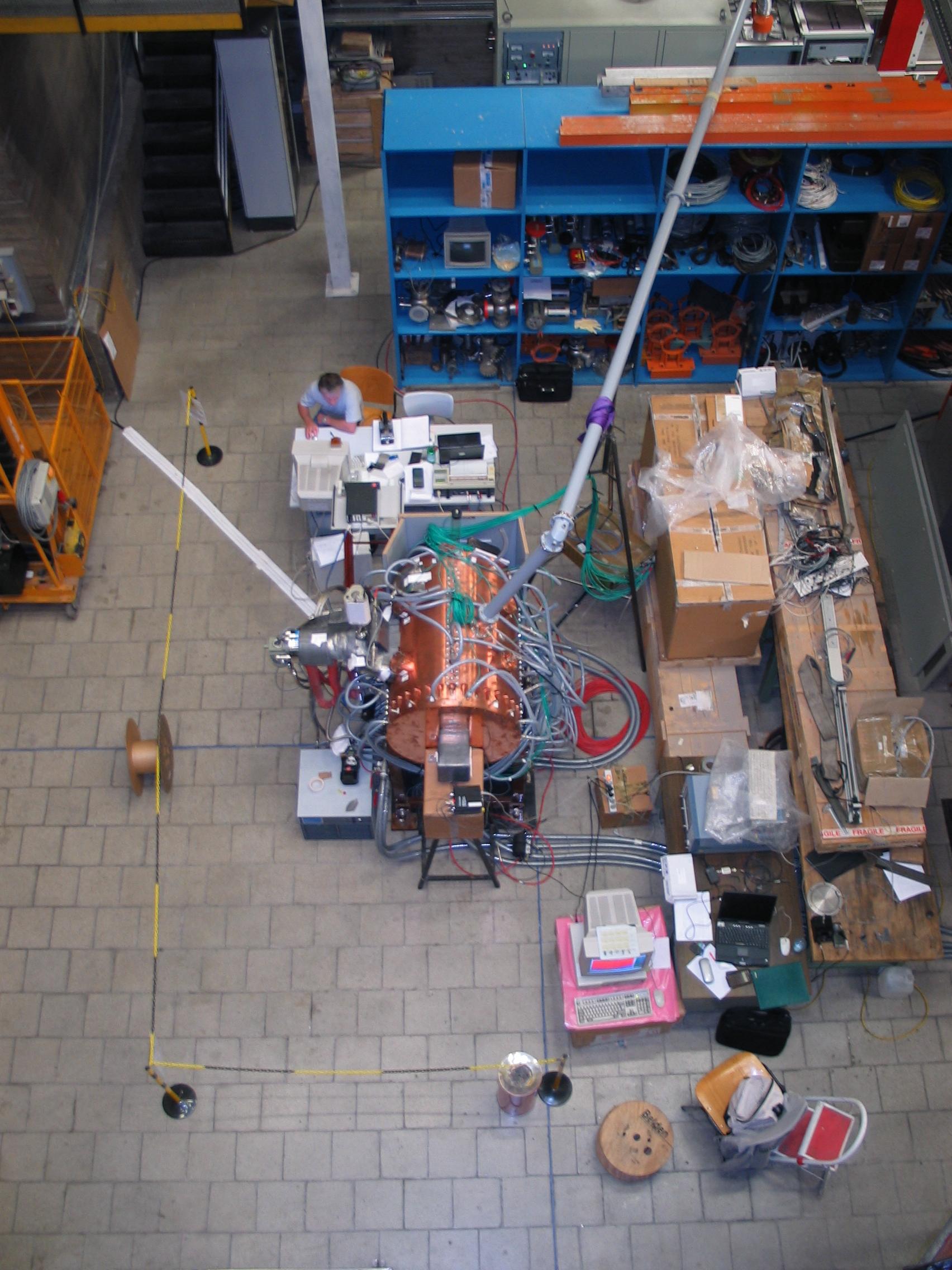 Test de la Cavité accélératrice prototype de type RFQ pour SPIRAL2