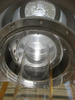 Maquette des cheminée du détecteur Double Chooz (Saclay, B534)