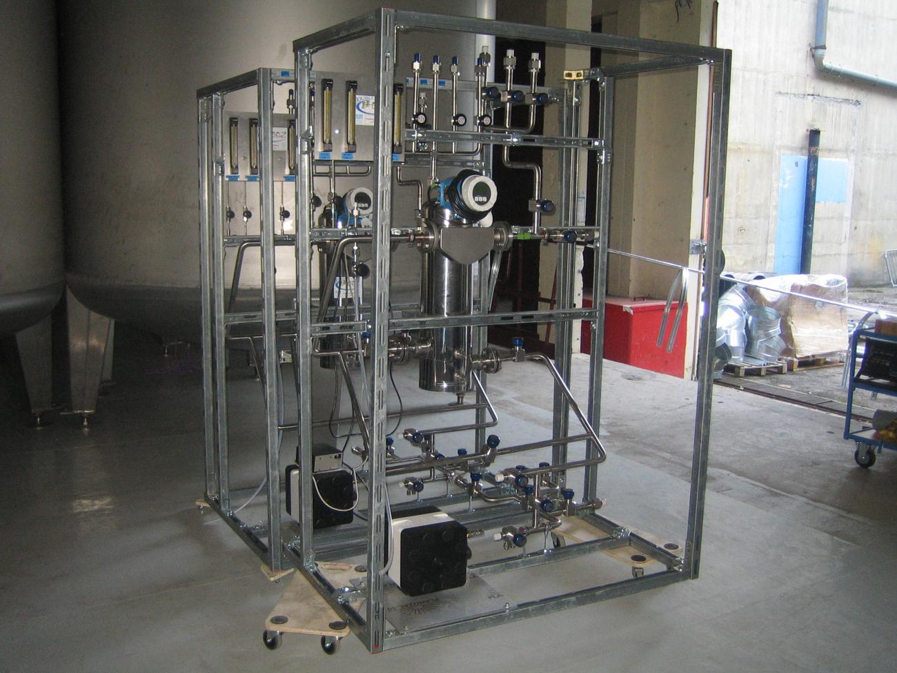Système de pompage du Buffer et du Veto