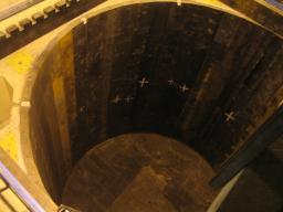Puit de l'expérience Double Chooz avec le blindage de 250 tonnes installé