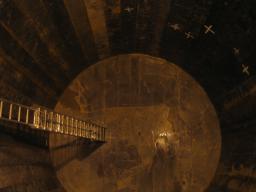 Blindage d'acier de l'expérience Double Chooz installé dans le laboratoire à 1 km des coeurs de la centrale nucléaire de Chooz