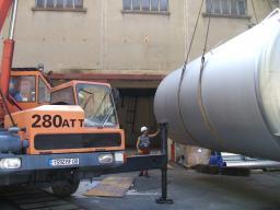 Arrivée des réservoirs Buffer/Veto à Chooz (2)
