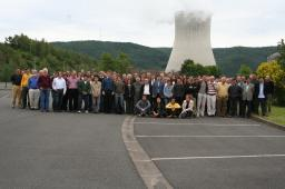 Photo de la Collaboration Double Chooz à Chooz Mézière en 2007