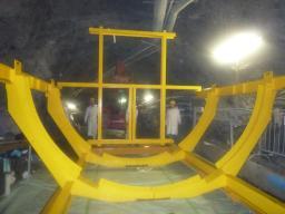Passage à Blanc des outillages de transport du Gamma Catcher dans le tunnel du labo neutrino Double Chooz