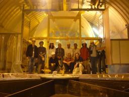 Transport de l'enceinte Cible de l'expérience Double Chooz dans le tunnel