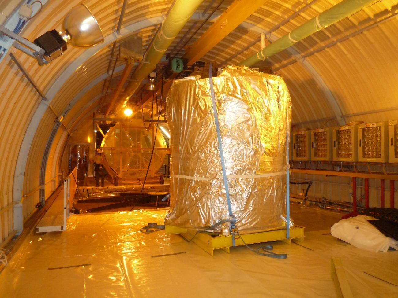 Cible et Gamma Catcher de Doble Chooz dans le labo neutrino