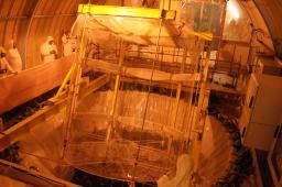 Rotation de l'enceinte Gamma Catcher au-dessus du puits