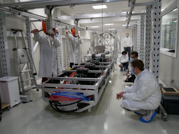 Test d'insertion du détecteur Alice MFT