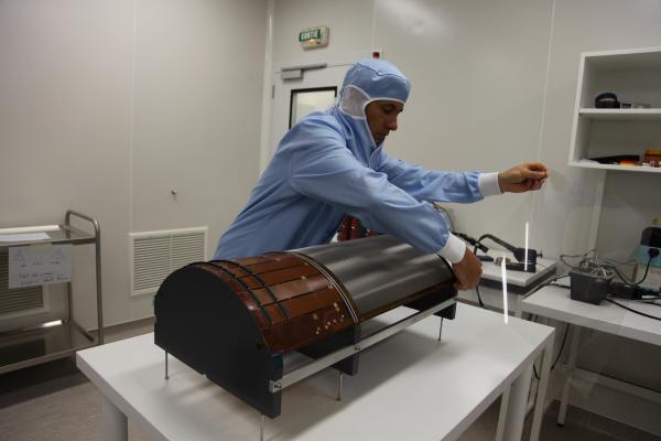 Détecteur barrel en cours d'intégration