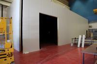 La salle noire en construction