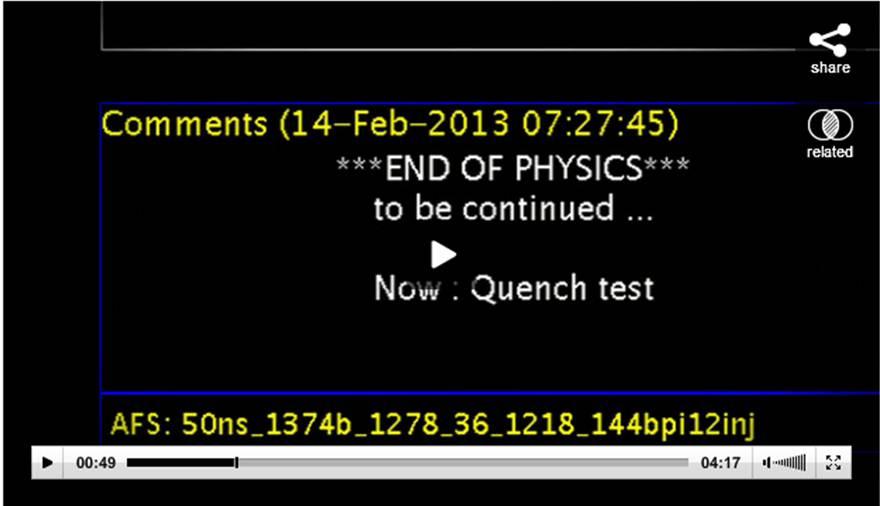 Ce n'est qu'un au revoir pour le faisceau du LHC
