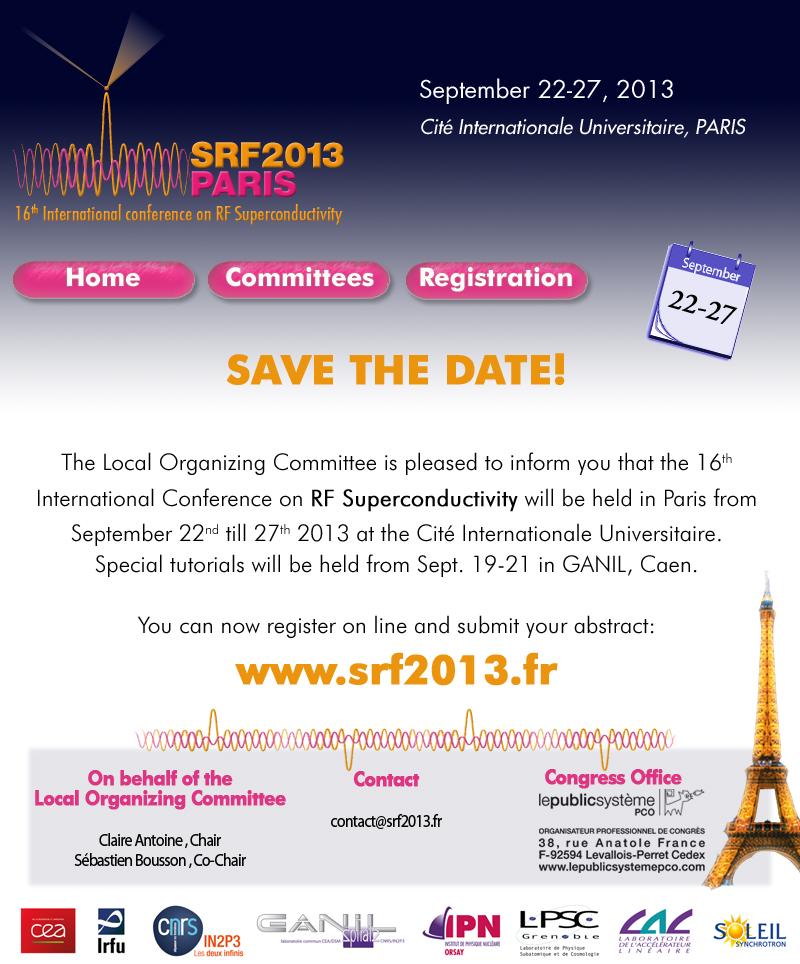 Ouverture des inscriptions pour SRF 2013