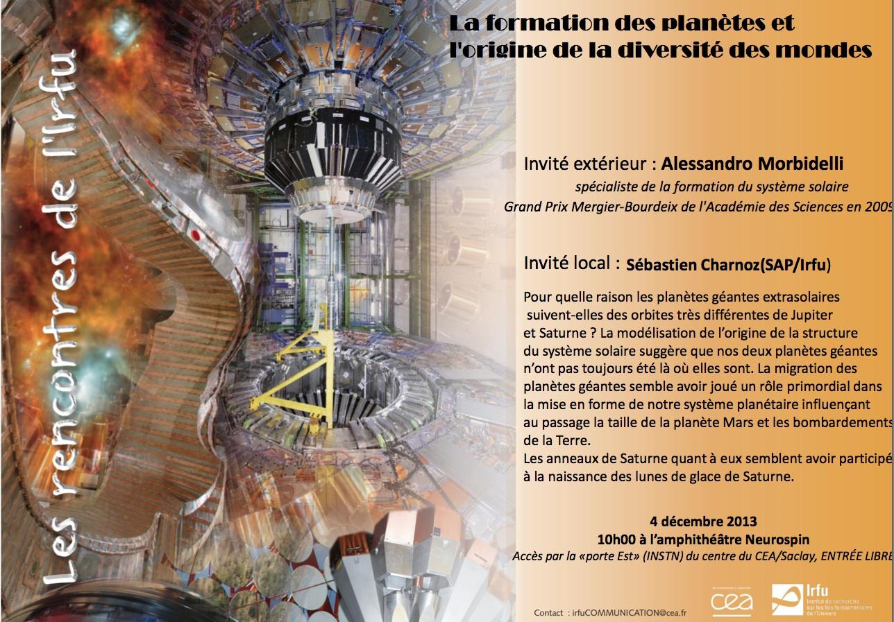 Rencontre IRFU : la formation des planètes