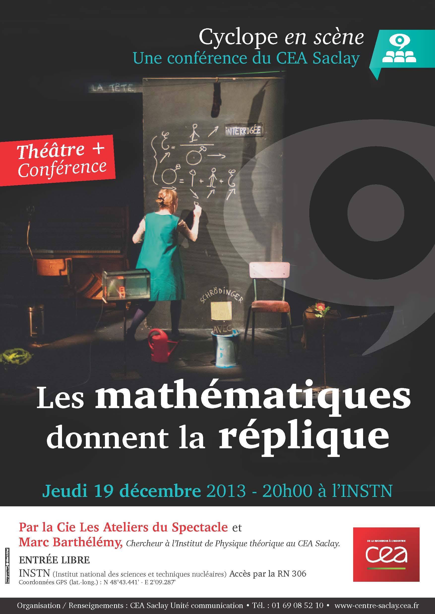 Les mathématiques donnent la réplique- Conférence Cyclope