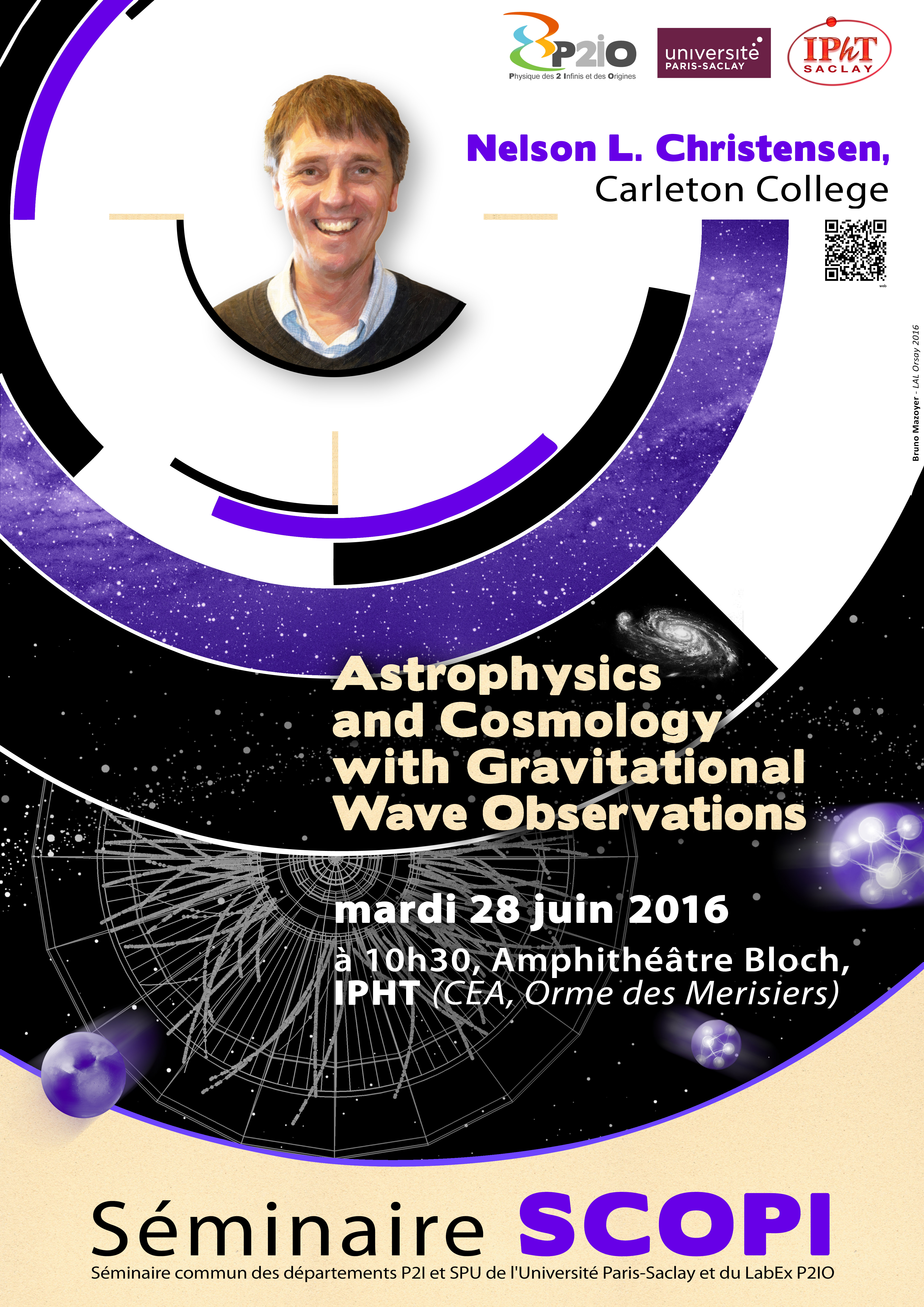 Astrophysics and Cosmology with Gravitational Wave Observations, par le Pr Nelson Christensen (Carleton College Northfield, MI)