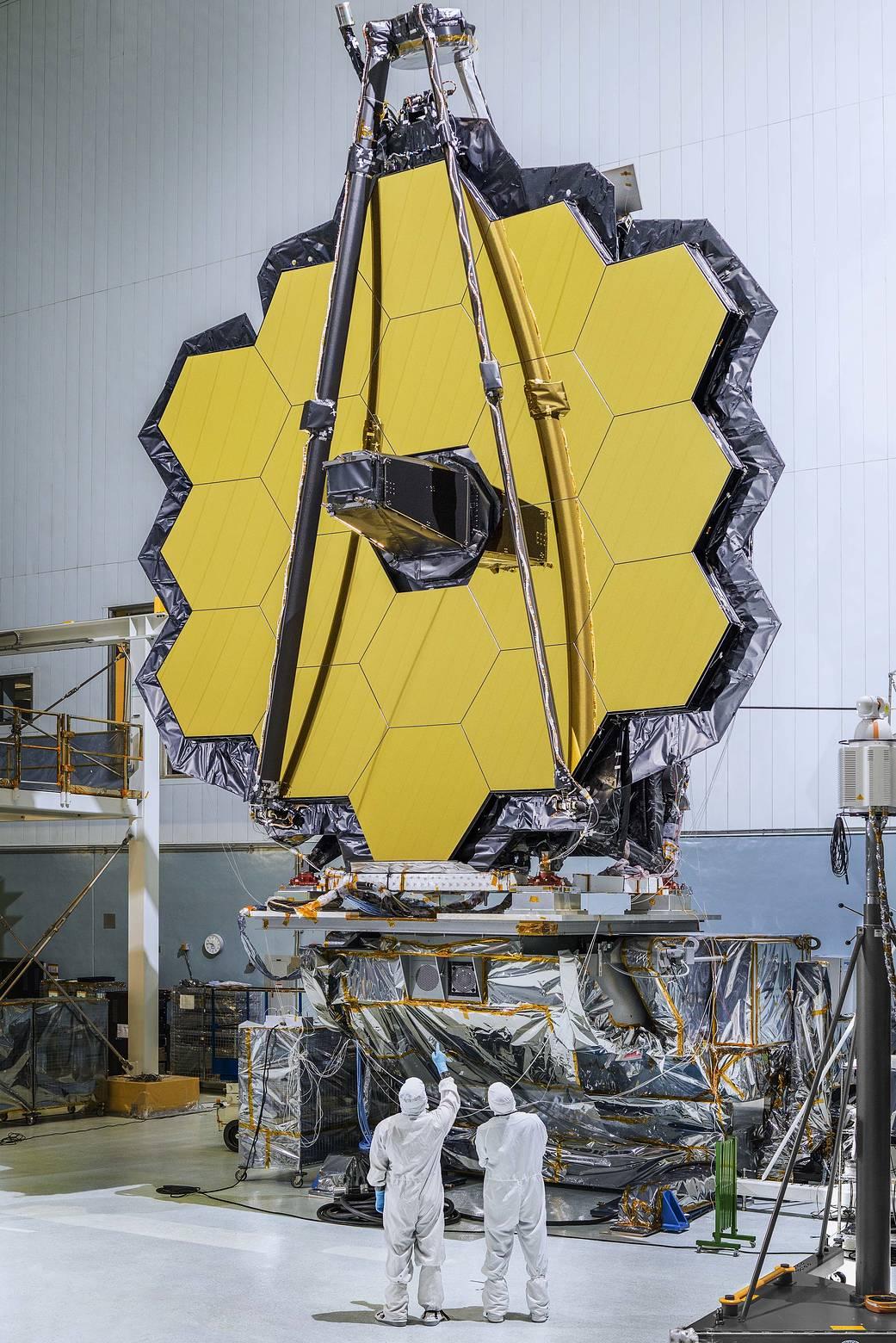 Test réussi des miroirs du futur télescope spatial géant JWST