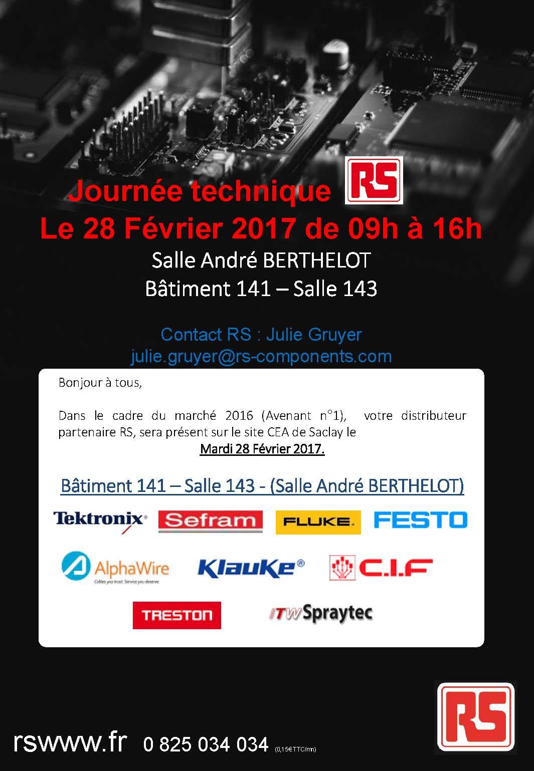 Journée technique RS Components le 28 février 2017