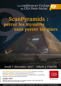 Conférence Cyclope - « ScanPyramids : percer les mystères sans percer les murs »: la vidéo est en ligne