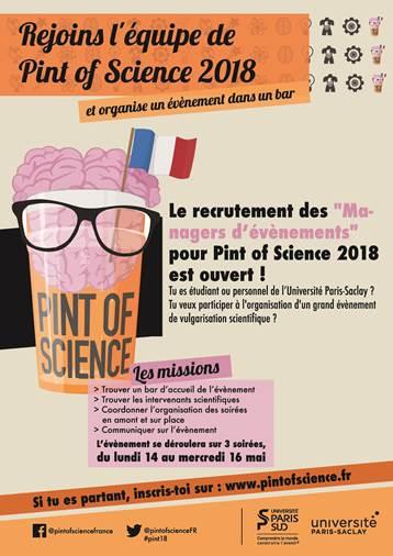 Pint of Science: appel à interventions 2018 pour partager vos recherches scientifiques avec le public