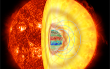 Strong magnetic fields hidden in the heart of the stars revealed thanks to