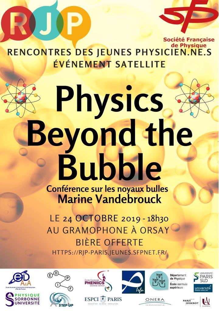 Conférence sur les noyaux bulles le 24 octobre 2019 à Orsay
