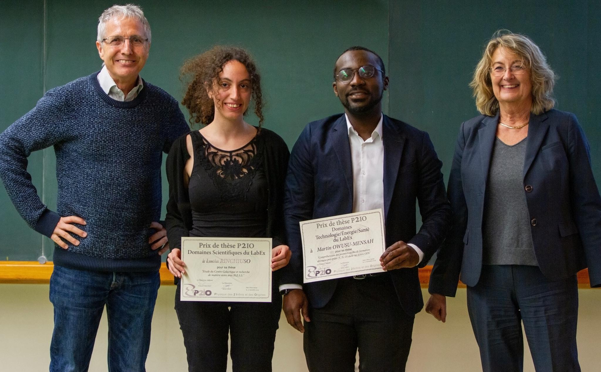 Lucia Rinchiuso et Martin Owusu-Mensah lauréats du Prix de Thèse P2IO 2019