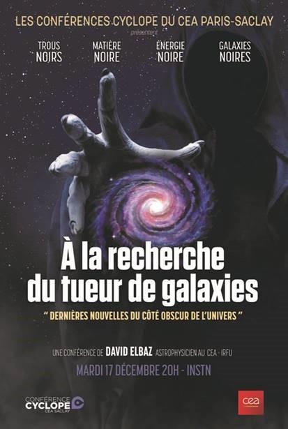 Conférence Cyclope - A la recherche du tueur de galaxies - le  4 février 2020 à 20h00 à l'INSTN (initialement prévue le 17 décembre 2019)