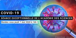Covid-19 : séance exceptionnelle de l'Académie des sciences