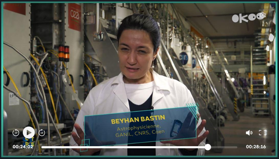 Beyhan Bastin, physicienne au Ganil, dans l'émission