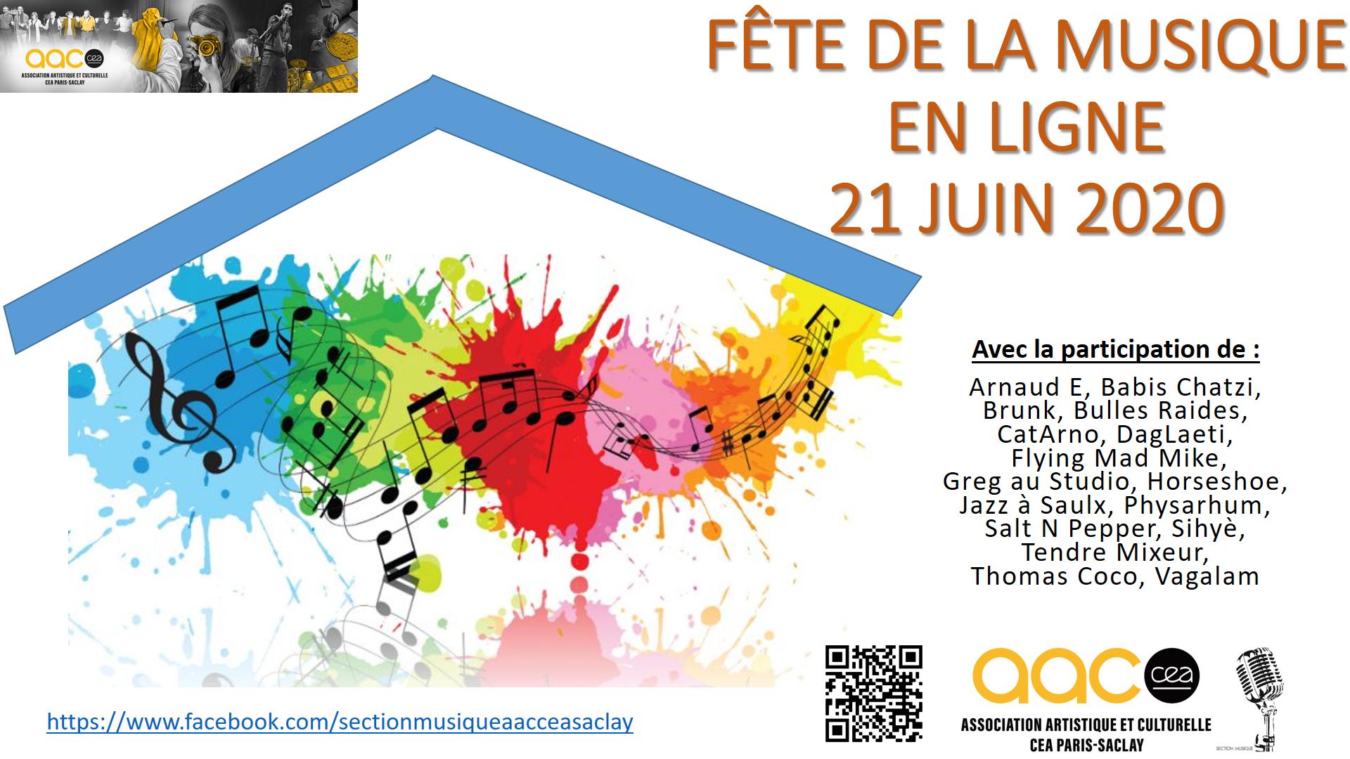 Fête de la Musique en ligne le dimanche 21 juin 2020, de 20h à 23h45.