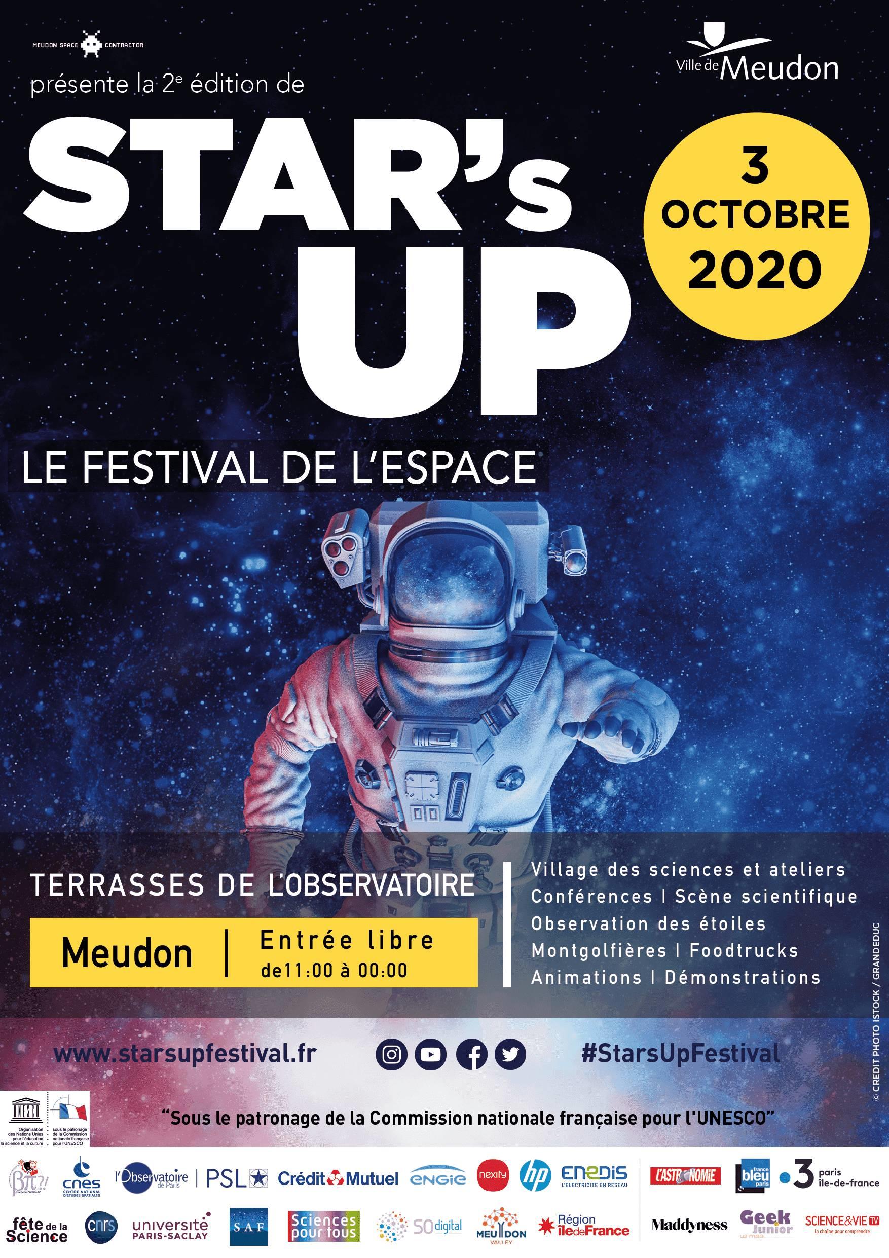 STAR'S UP 2020: le Festival de l'espace, de la science et de l'innovation le 3 octobre 2020