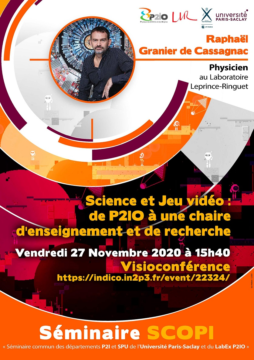 Prochain séminaire SCOPI vendredi 27 Novembre à 15h40