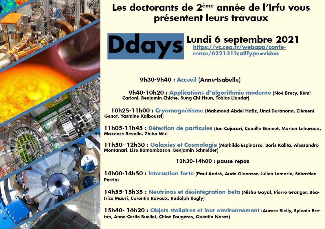 DDays journée des thésards : 06 septembre 2021