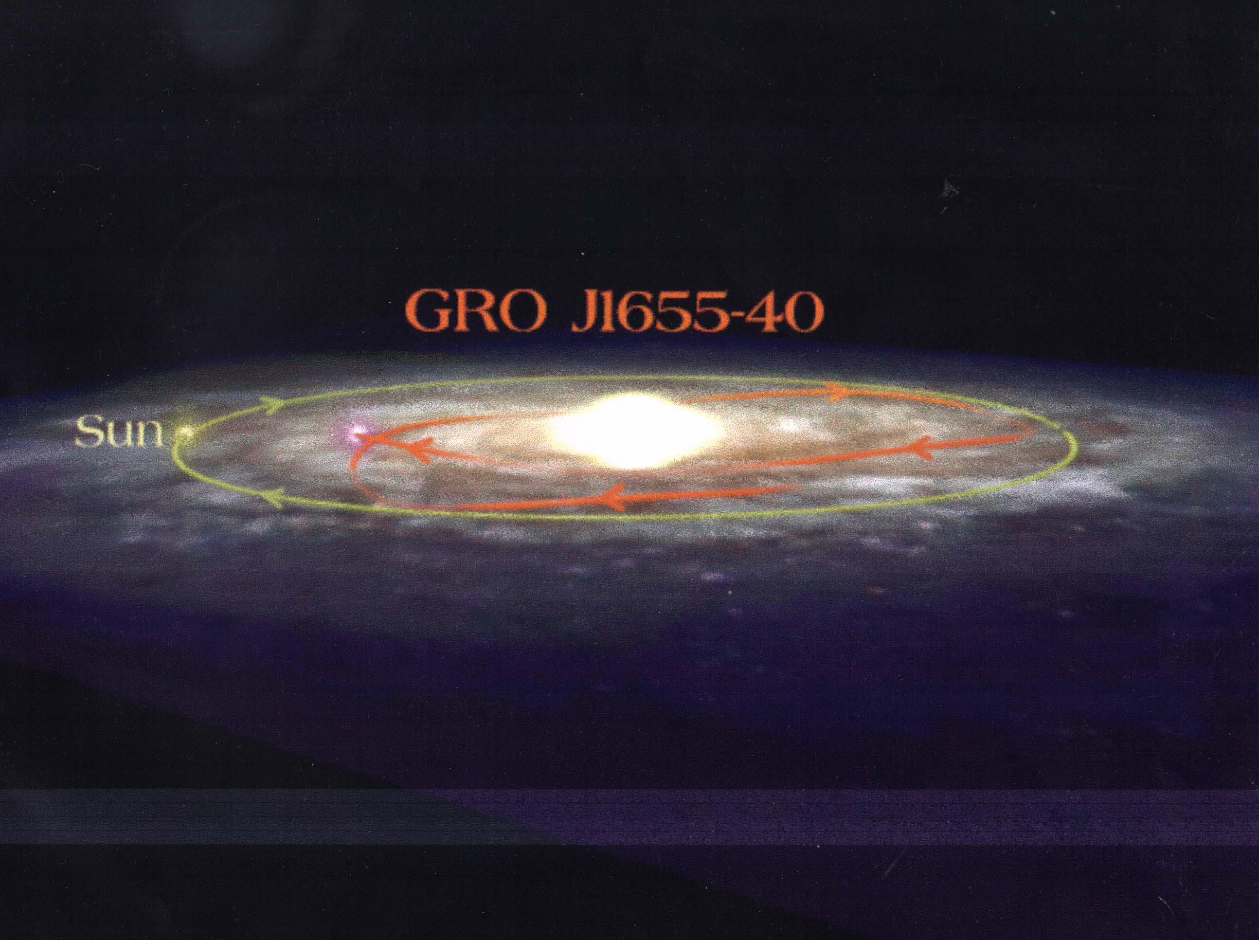 Un trou noir en fuite dans la Galaxie