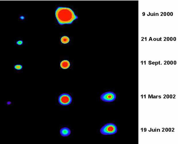 De puissants jets de matière relativiste autour d'un trou noir de notre Galaxie.