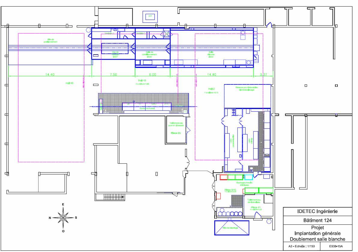 Salle blanche pour les cavit s supra for Plan de conception